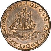 ½ Penny (Middlesex - National Series / Duke of York) – reverse
