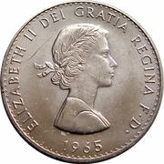 1 Crown - Elizabeth II (Churchill) -  obverse