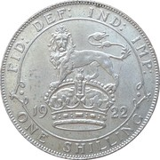 1 Shilling - George V (2nd type) -  reverse
