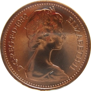 ½ Penny - Elizabeth II (2nd portrait) -  obverse