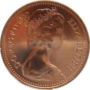 1 Penny - Elizabeth II (2nd portrait) -  obverse
