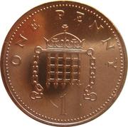 1 Penny - Elizabeth II (2nd portrait) -  reverse