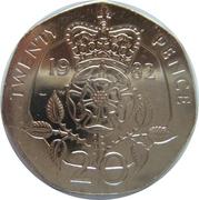 20 Pence - Elizabeth II (2nd portrait) -  reverse