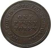 1 Penny (Flint Lead Works) – reverse