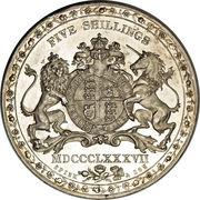 1 Crown - Victoria (Spink & Son Pattern) -  reverse