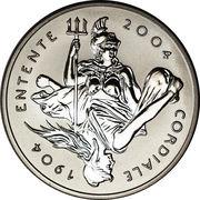 5 Pounds - Elizabeth II (Entente Cordiale; Platinum Piedfort) -  reverse