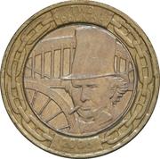2 Pounds - Elizabeth II (4th portrait; Isambard K. Brunel) -  reverse