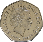 50 Pence - Elizabeth II (4th portrait; Commonwealth Games) -  obverse