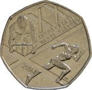 50 Pence - Elizabeth II (4th portrait; Commonwealth Games) -  reverse