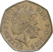 50 Pence - Elizabeth II (4th portrait; Victoria Cross, medal) -  obverse