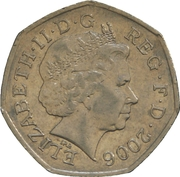 50 Pence - Elizabeth II (4th portrait; Victoria Cross, soldier) -  obverse