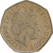 50 Pence - Elizabeth II (4th portrait; Scouting Movement) -  obverse