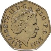 50 Pence - Elizabeth II (4th portrait; Volleyball) – obverse
