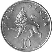 10 New Pence - Elizabeth II (2nd portrait) -  reverse