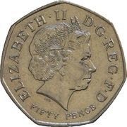 50 Pence - Elizabeth II (4th portrait; WWF) -  obverse