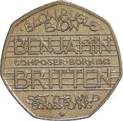 50 Pence - Elizabeth II (4th portrait; Benjamin Britten) -  reverse