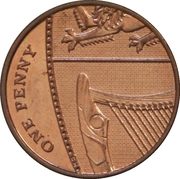 1 Penny - Elizabeth II (4th portrait; Royal Shield) -  reverse