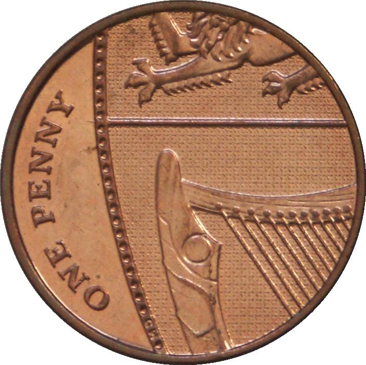 1 penny elizabeth ii 4th portrait royal shield for One penny homes