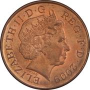 2 Pence - Elizabeth II (4th portrait; Royal Shield) -  obverse
