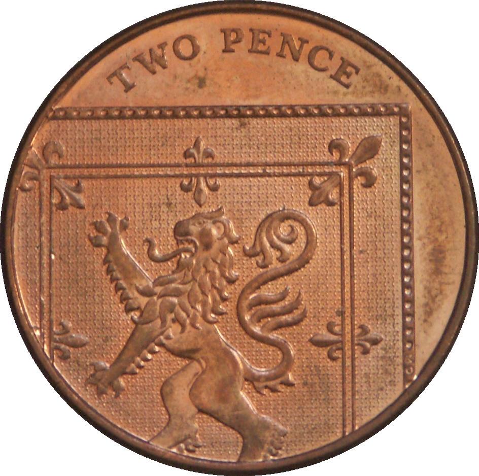 2 New Pence - Elizabeth II (2nd portrait) - United Kingdom