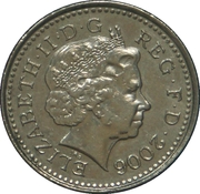5 Pence - Elizabeth II (4th portrait; Crowned Thistle) -  obverse