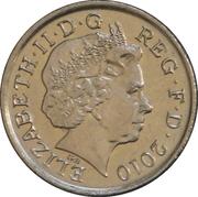 5 Pence - Elizabeth II (4th portrait; Royal Shield, non-magnetic) -  obverse