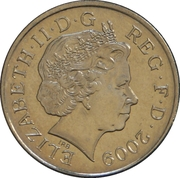 10 Pence - Elizabeth II (4th portrait; Royal Shield, non-magnetic) -  obverse