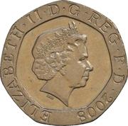 20 Pence - Elizabeth II (4th portrait; Royal Shield) -  obverse