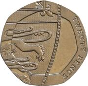 20 Pence - Elizabeth II (4th portrait; Royal Shield) -  reverse