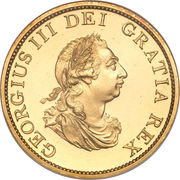½ Penny - George III (3rd issue; Proof) – obverse