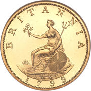 ½ Penny - George III (3rd issue; Proof) – reverse