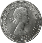 1 Shilling - Elizabeth II (Scottish shield; no 'BRITT:OMN') -  obverse