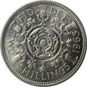 2 Shillings - Elizabeth II (1st portrait; no 'BRITT:OMN') -  reverse
