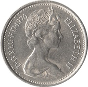 5 New Pence - Elizabeth II (2nd portrait) -  obverse