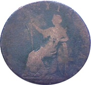 ½ Penny (Hampshire - Petersfield / Holland & Andrews) – reverse