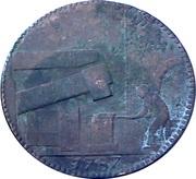 ½ Penny (Warwickshire – Wilkinson / Forge) -  reverse