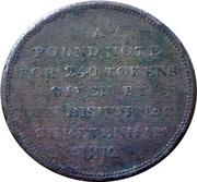 1 Penny (Cheltenham - John Bishop & Co.) – obverse