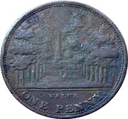 1 Penny (Cheltenham - John Bishop & Co.) – reverse
