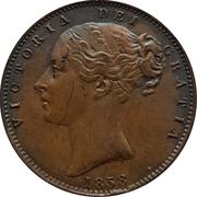 1 Farthing - Victoria (1st portrait) – obverse