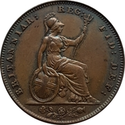 1 Farthing - Victoria (1st portrait) – reverse