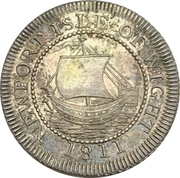 6 Pence (Hampshire - Newport, Isle of Wight) – obverse