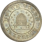 6 Pence (Hampshire - Newport, Isle of Wight) – reverse