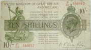 10 Shillings - George V (Treasury issue; 3rd series) -  obverse