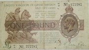 1 Pound - George V (Tresaury issue; 3rd series) -  obverse