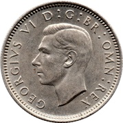 6 Pence - George VI (2nd coinage) -  obverse