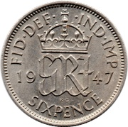 6 Pence - George VI (2nd coinage) -  reverse