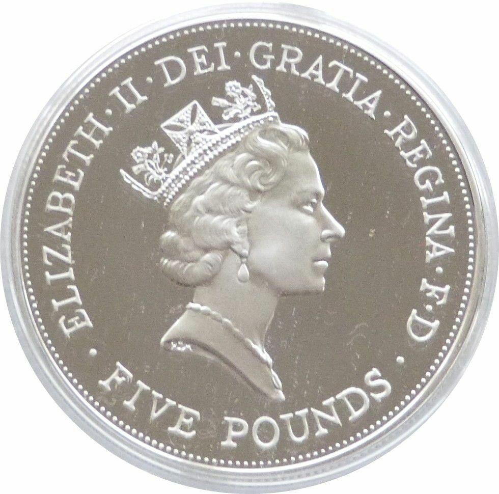 queen mother 5 pound coin