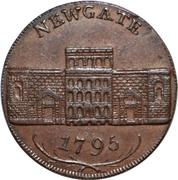 ½ Penny (Middlesex - Newgate / Symonds) – obverse