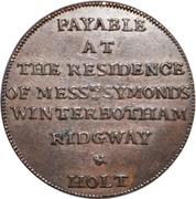 ½ Penny (Middlesex - Newgate / Symonds) – reverse