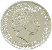 2 Pounds - Elizabeth II (4th portrait; 1 oz Fine Silver (.999)) -  obverse